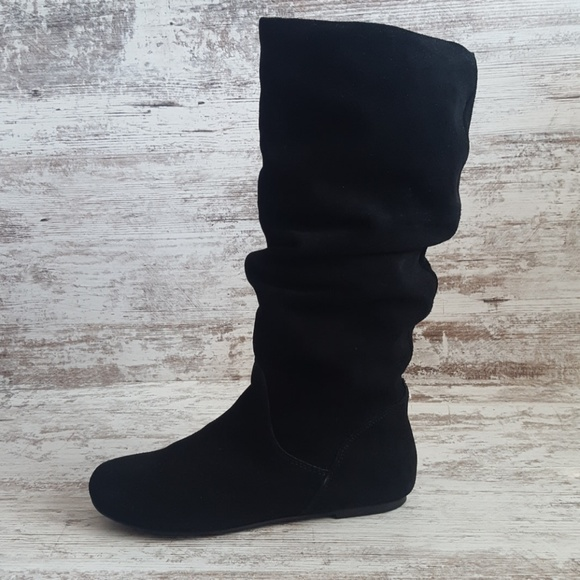 Steve Madden Suede Leather Slouch Boots